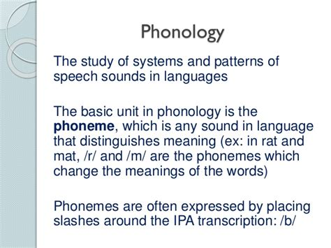 pattern of language meaning phonetics the sounds of language