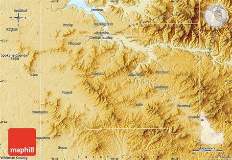 idaho physical map physical map of benewah county