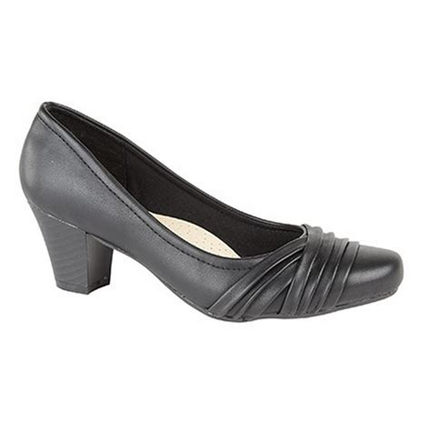 comfort plus shoes comfort plus womens ladies wide fit folded v court shoes