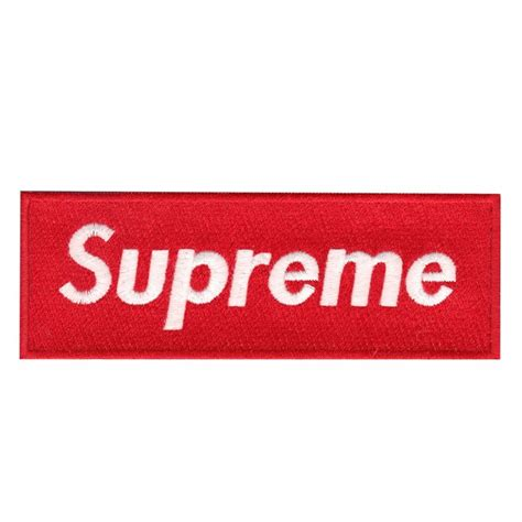 Halloween Decor Clearance Red Supreme Box Logo Iron On Applique Patch
