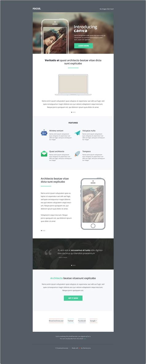 Free Email Newsletter Templates Psd 187 Css Author Canva Website Template