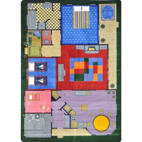 joy carpets kid essentials creative play house multi area