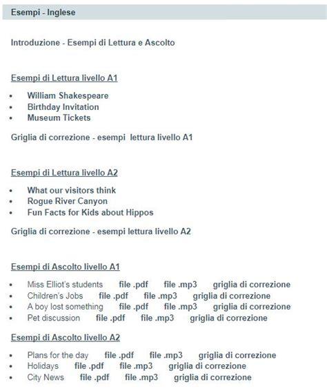 test ingresso scuola superiore esempi di prove invalsi di inglese per primaria e media