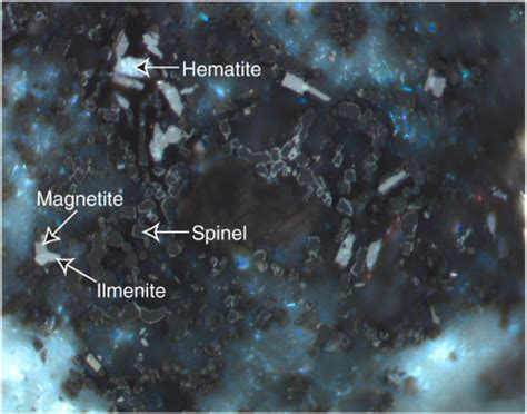 hematite in thin section figure f90 spinel dark gray magnetite medium gray
