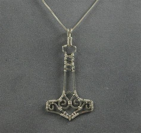 Handmade Mjolnir - 1000 images about jewelry wire hammers on