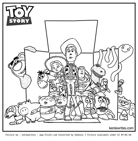 Radkenz Artworks Gallery Toy Story Story Coloring Page