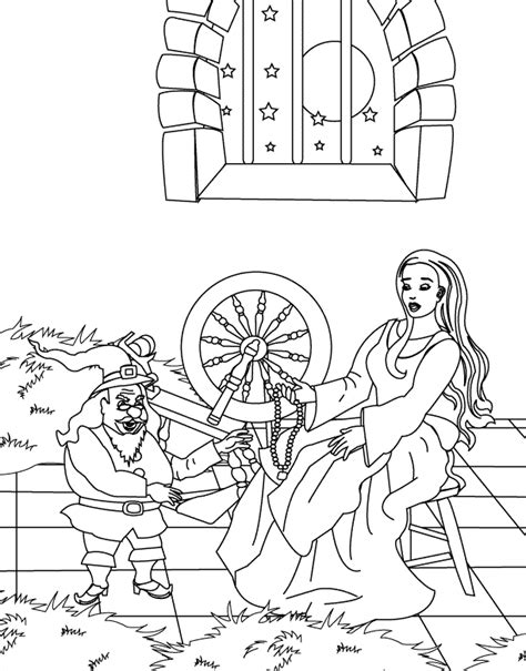 rumplestiltskin free colouring pages