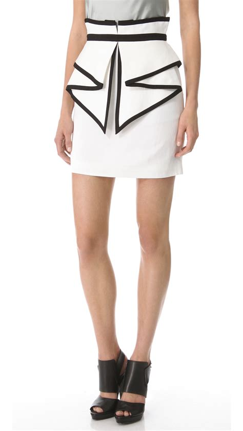sass bide laugh out loud skirt in lyst