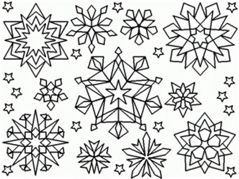 free printable snowflakes to color free snowflake coloring pages coloring home