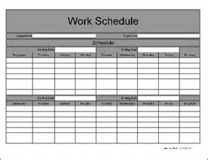 Bi Weekly Work Schedule Template by Free Wide Row Biweekly Work Schedule From Formville