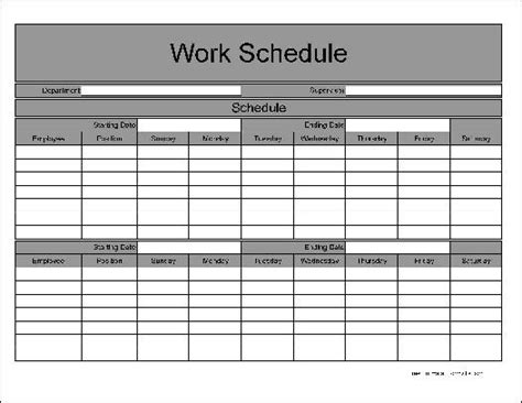 Bi Weekly Work Schedule 9 80 Work Schedule Template