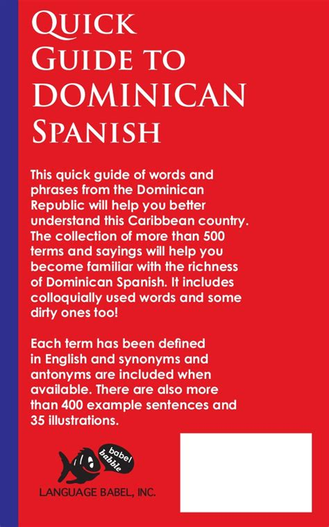 quick guide  dominican spanish book preview