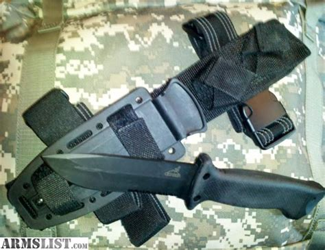 Gerber Prodigy Tactical Combat Knife Black W Molle Sheath 22 armslist for sale trade gerber prodigy tanto tactical knife for 22lr ammo