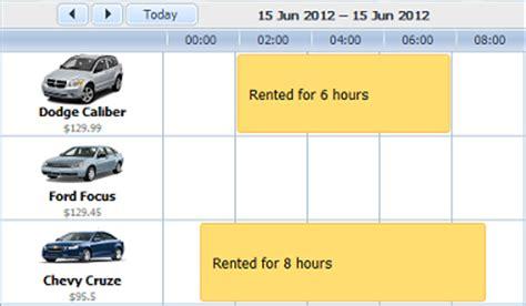 Duration Calendar Dhtmlx Scheduler Net Tutorial Car Rental Application