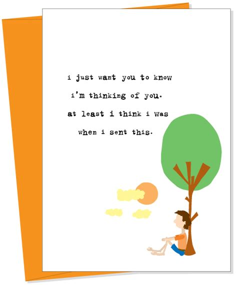 Thinking Of You Gift Card - i m thinking of you greeting card from uncooked