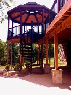 spiral stairs   story ipe deck contemporary