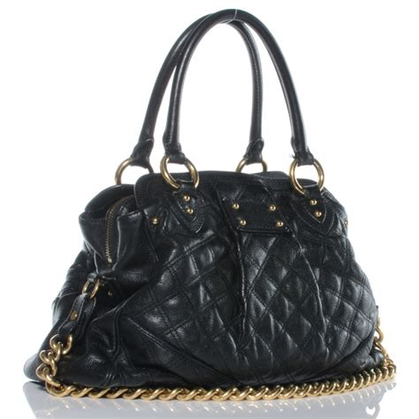 Marc Quilted Alyona Handbag by Marc Quilted Leather Alyona Bag Black 51677