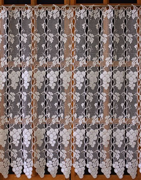 french macrame lace curtains grapefruit french lace curtain