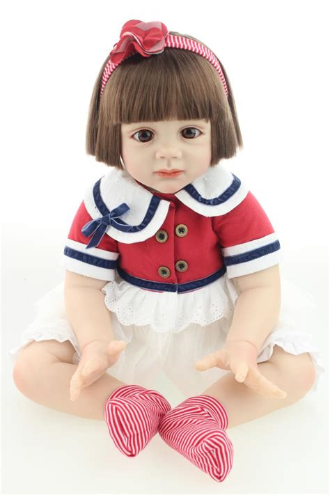 Sale Baby Doll Dewasa 1 100 safety 60 cm reborn toddler silicone baby dolls for