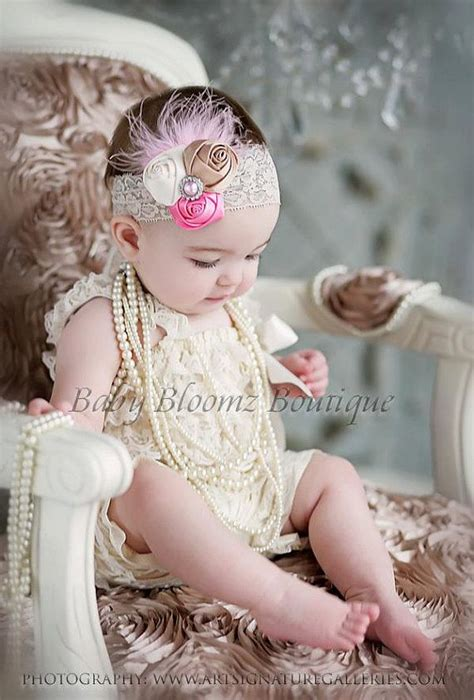 newborn satin flower headband shabby chic headband baby picmia
