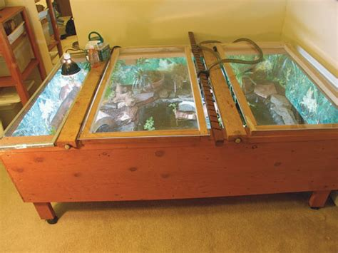Handmade Tortoise Table - indoor turtle and tortoise table housing