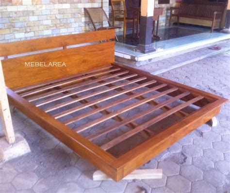Tempat Tidur Kayu Jati Bekasi harga dipan minimalis modern kayu jati terbaru