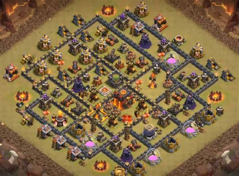 defensive war base for th10 50 latest th10 undefeated bases designs layouts 2017