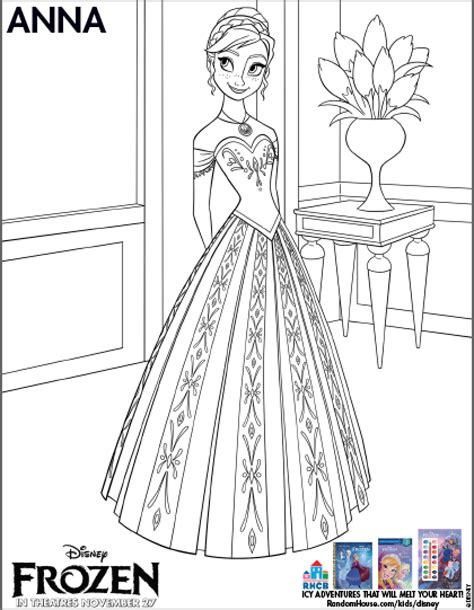 Printable Frozen Anna | frozen coloring pages printable free