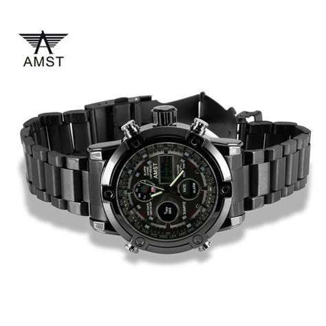 Murah Amst Jam Tangan Digital Analog Pria Am3003 Brown Black amst jam tangan militer analog digital pria am3022 black black jakartanotebook
