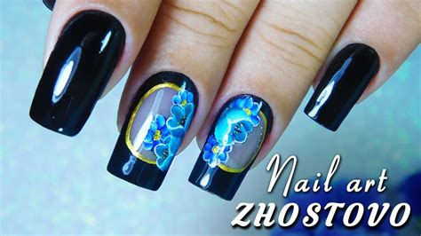 nail art tutorial zhostovo nail art zhostovo pintura russa tutorial da t 233 cnica e