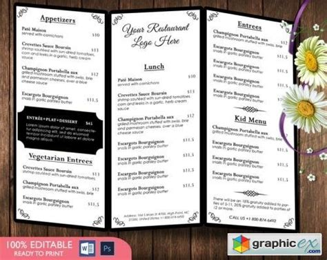 restaurant menu template 596755 187 free download vector