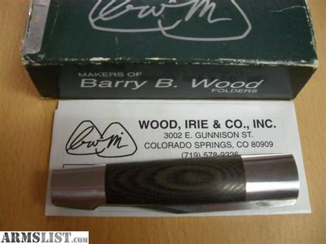 Sale B Berry armslist for sale barry b wood mk 2 folding knife