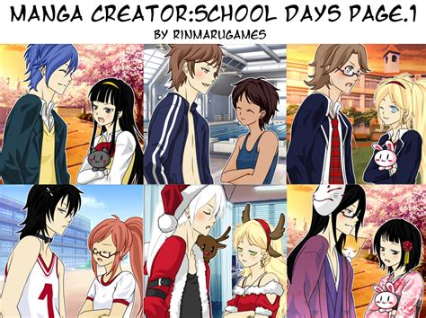 make up games for girls page 2 manga creator school days page 1 by rinmaru on deviantart