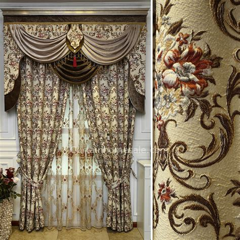 victorian drapes high quality victorian chenille living room curtain in