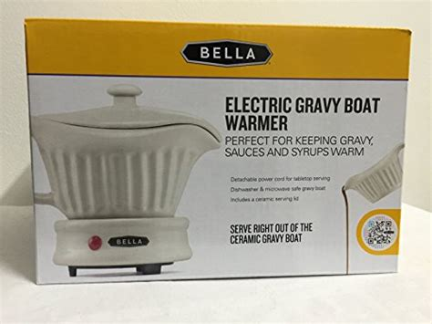 gravy boat with warming base bella electric gravy boat warmer ceramic with lid