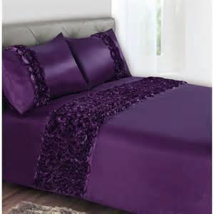 Purple Duvet Set Rose Floral Duvet Set Double Purple 2918611 B Amp M