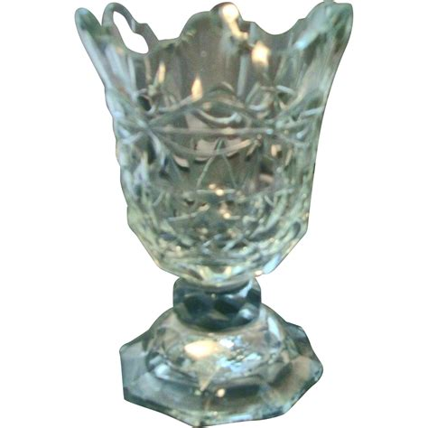 Epergne Vase by Antique 19th Century Anglo Cut Glass Epergne