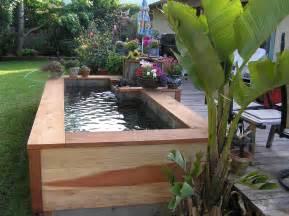 Backyard Sprinkler System raised backyard pond viewing gallery
