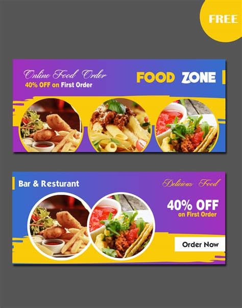 bold modern banner ad design for cj s food fantasy by uk food banners design the best banner 2017