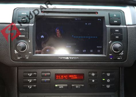 split screen mode bmw e46 sat nav android auto car radio with