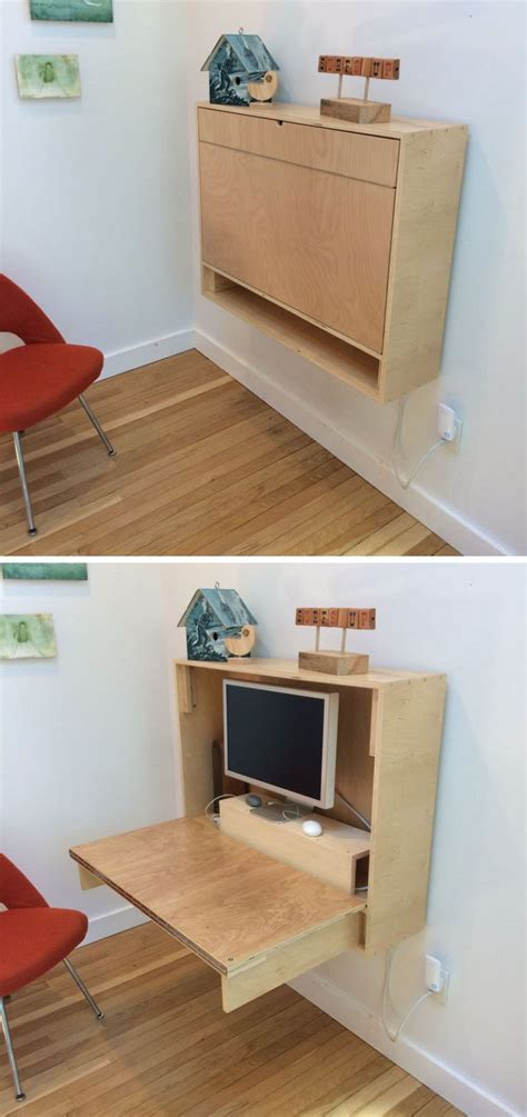 Small Desk Space Ideas 16 Wall Desk Ideas That Are Great For Small Spaces Small Spaces Feelings And Desks