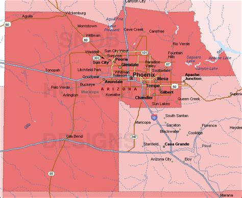 maricopa county arizona color map