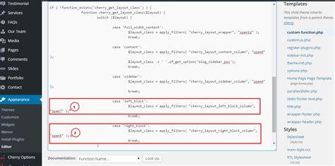 wordpress change layout of posts wordpress cherry 3 x how to change width of columns for