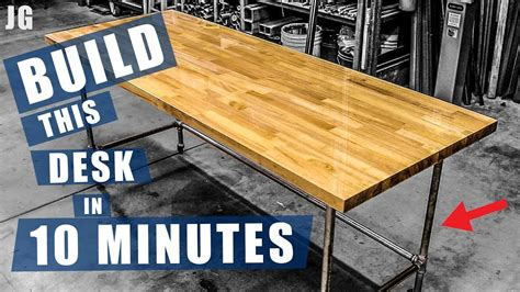 pipe frame desk jimbos garage youtube
