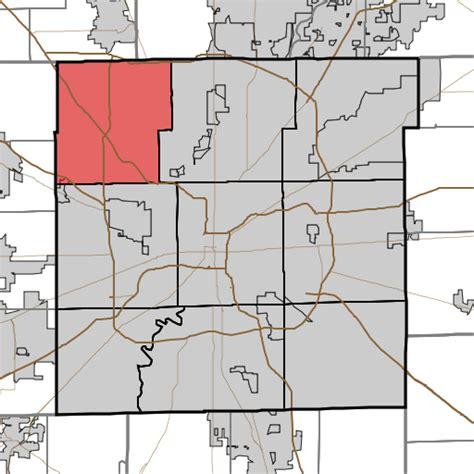 map of grant county indiana file map highlighting pike township marion county