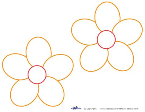 free printable hawaiian flowers coloring pages free printable flower stencil templates