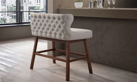 bar n bench tufted fabric bar bench groupon
