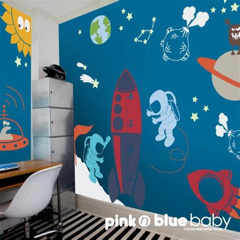 space room decor outer space playroom decal for kids nursery wall decal