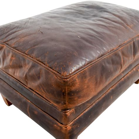 restoration hardware leather ottoman 79 restoration hardware restoration hardware brown