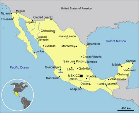 map of the country of mexico mexico country profiles